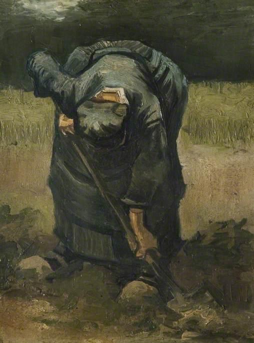 A Peasant Woman Digging