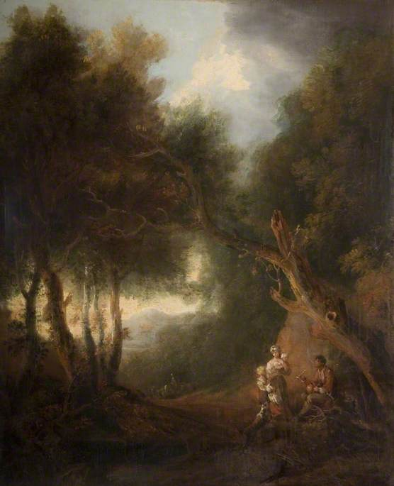 A Wooded Landscape, Autumn Evening