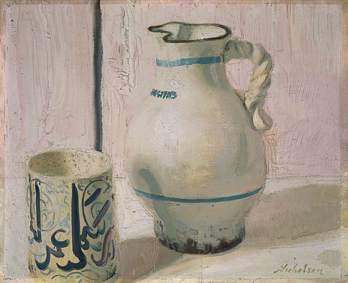 Pink Still Life with Jug