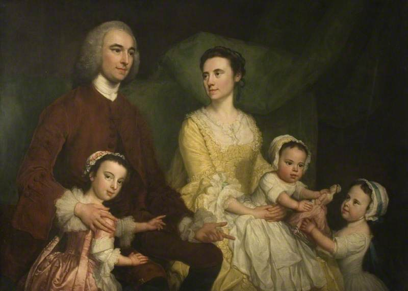 Dr Samuel Walthen with His Wife and Children
