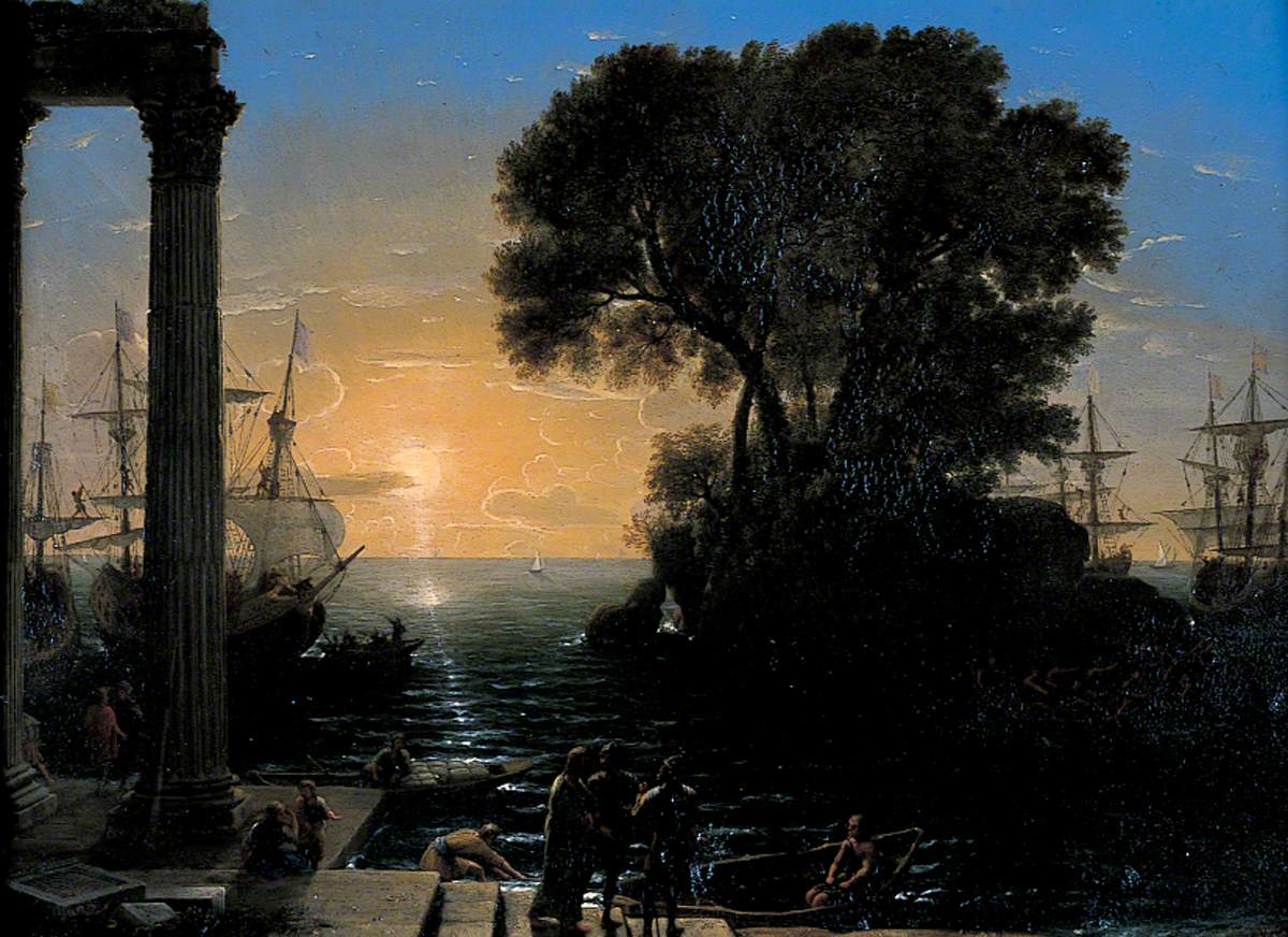 Coast Scene with the Embarkation of Saint Paul