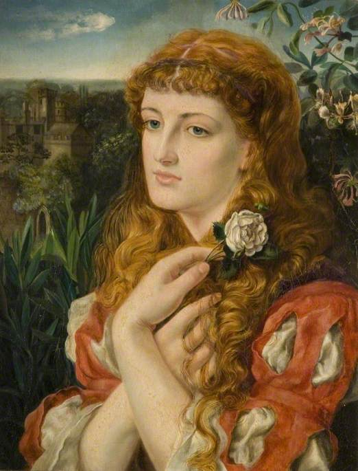 A Lady Holding a Rose