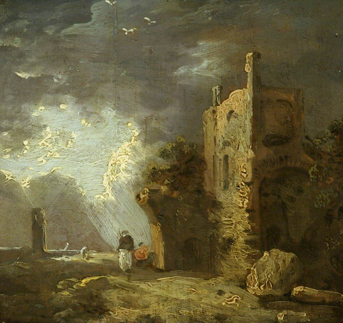 Ruined Tower with Figure