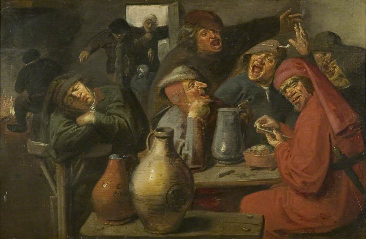 Interior of a Tavern, Peasants Carousing