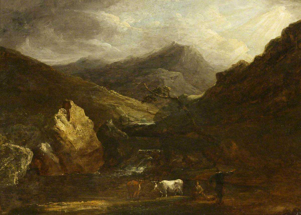 Mountain Landscape with View of Snowdon