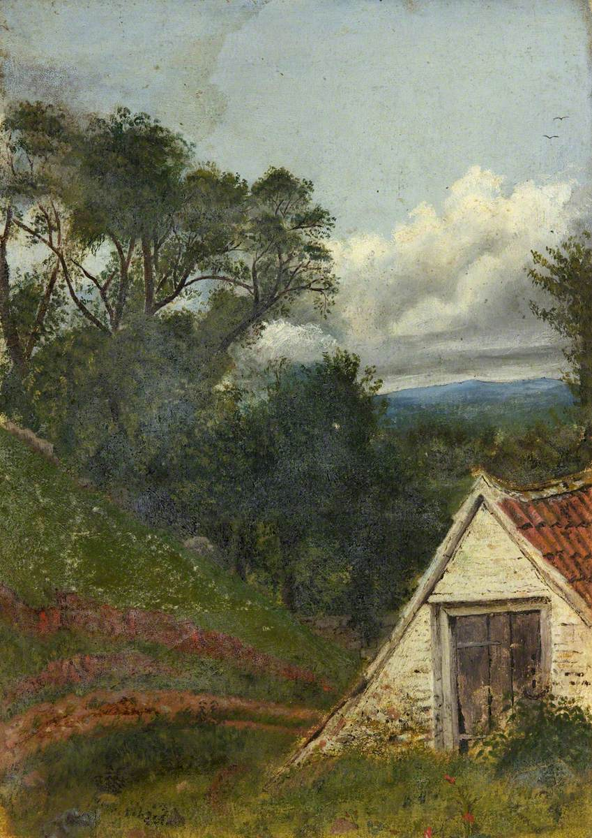 Rustic Scene with Farmhouse