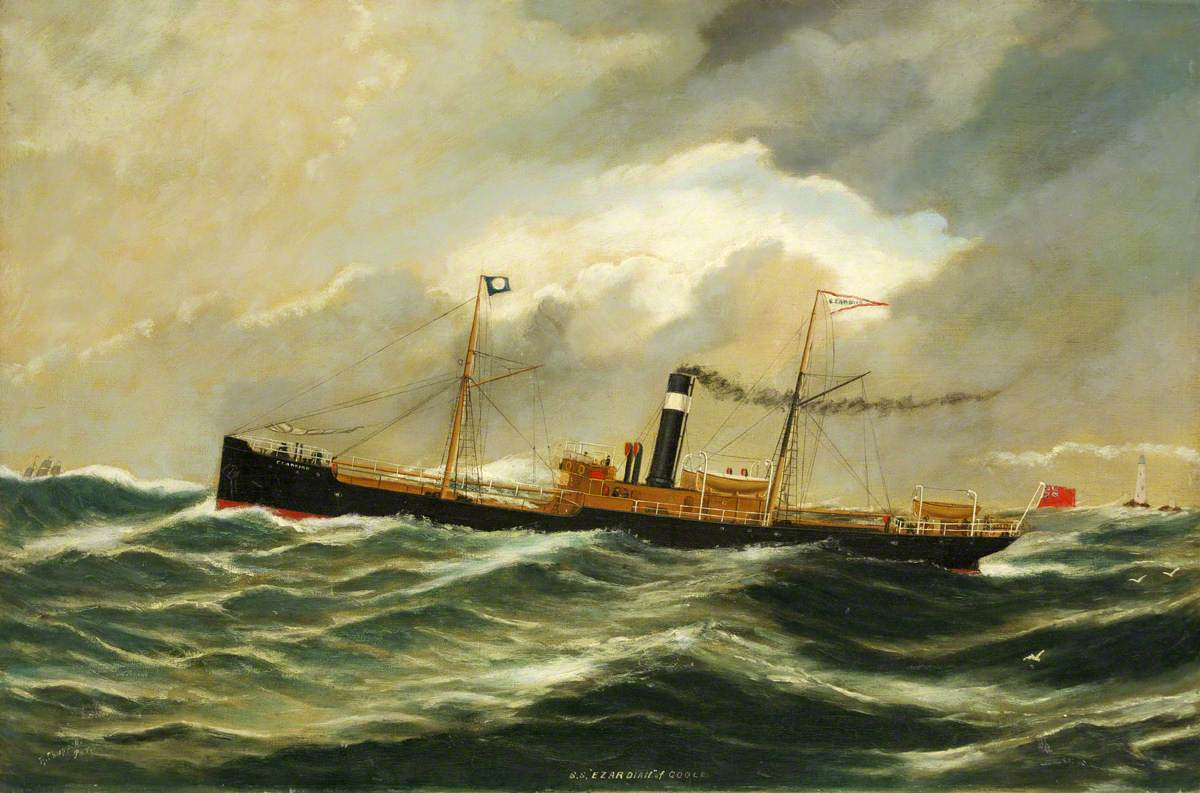 Steamship 'Ezardian' of Goole