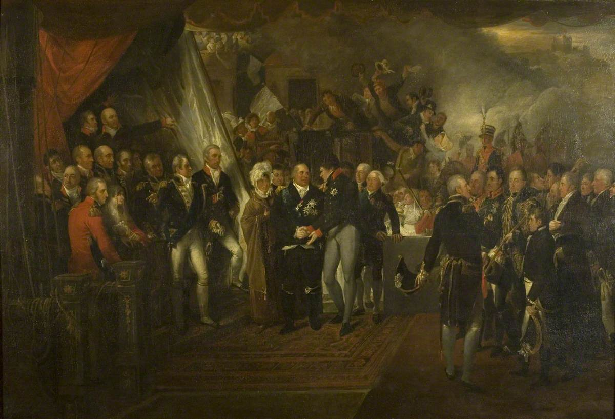 The Embarkation of Louis XVIII at Dover, 1814
