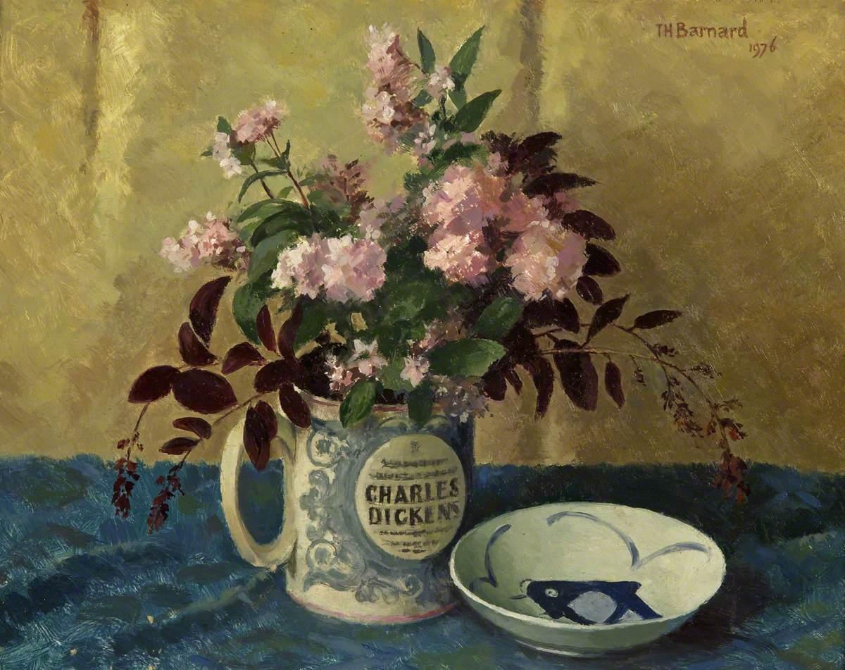 Deutzias in a Dickens mug