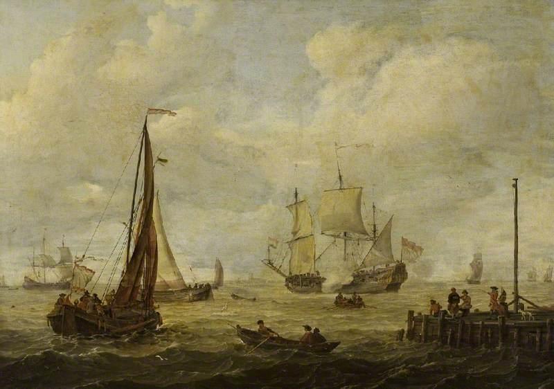 Sea Piece with a Dutch Man-of-War