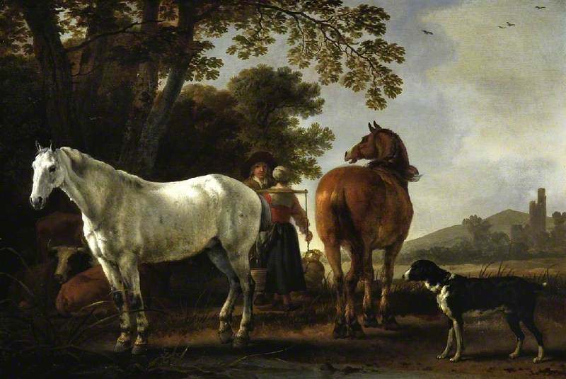Landscape with Figures and Horses