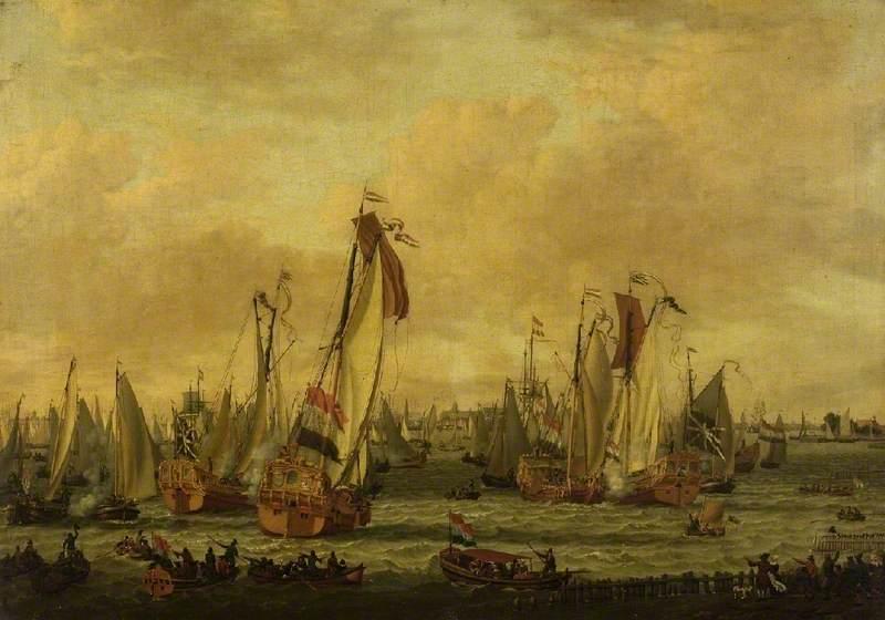 A Marine Sham Fight on the Y before Amsterdam