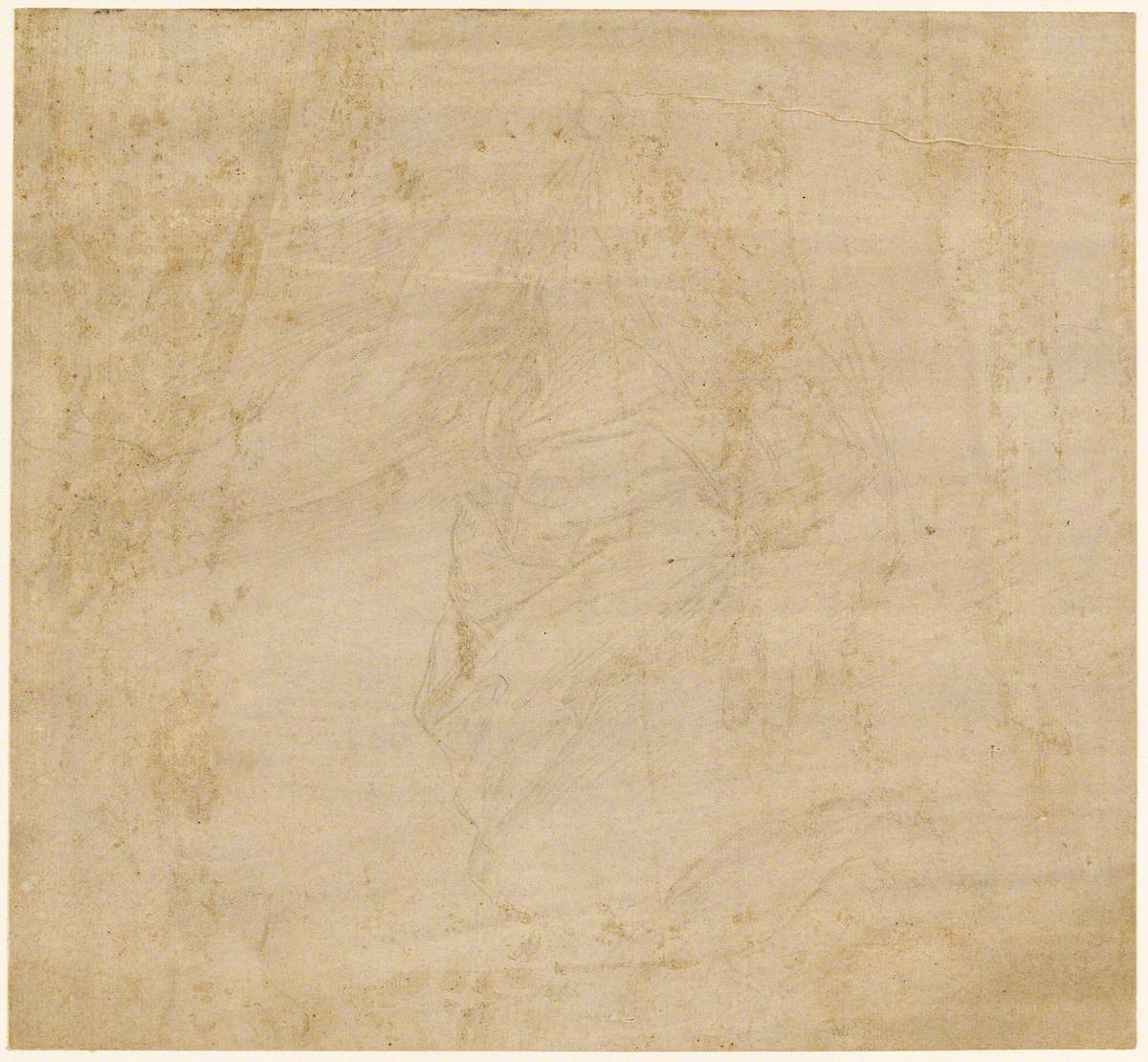 Sheet of Studies – Drapery with a Bare Arm and a Separate Study of a Foot and Drapery