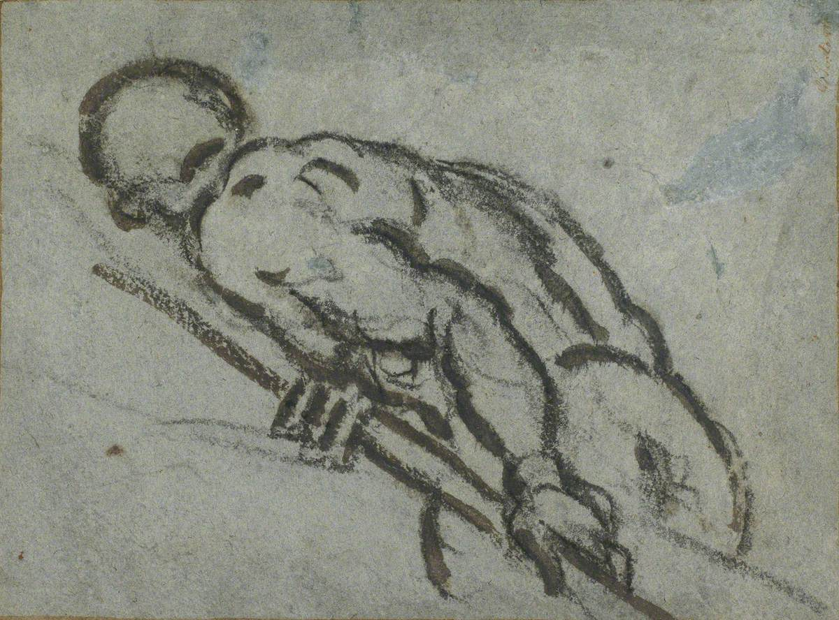 Leaning Figure of an Oarsman with a Pole