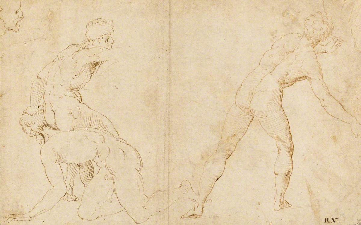 Studies for a Scene of Fighting Youths