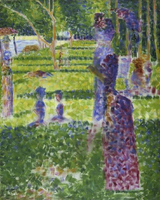 Study for 'A Sunday on the Island of La Grand Jatte': Couple Walking
