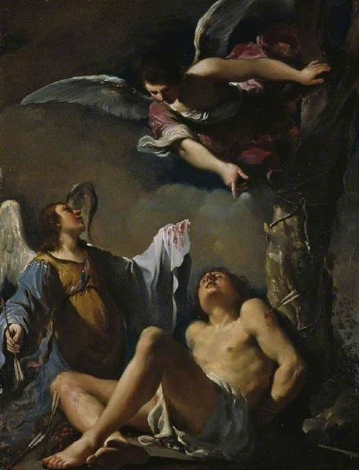 Saint Sebastian Succoured by Two Angels
