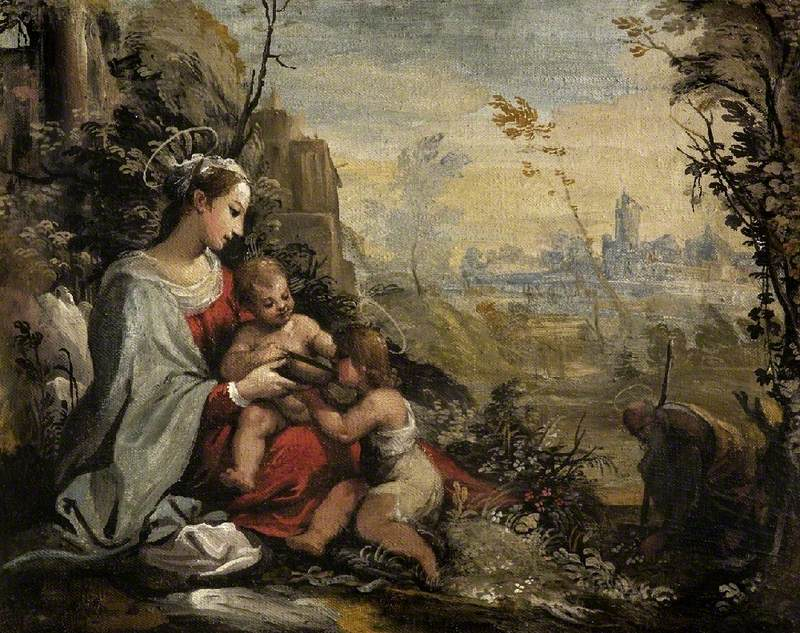 The Holy Family on the Return from the Flight Meets the Infant St John
