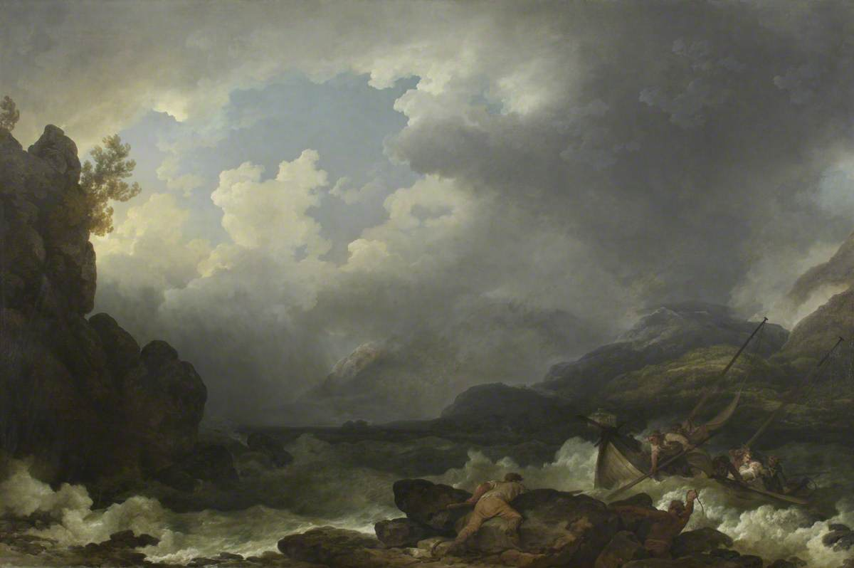 Belle Isle, Windermere, in a Storm