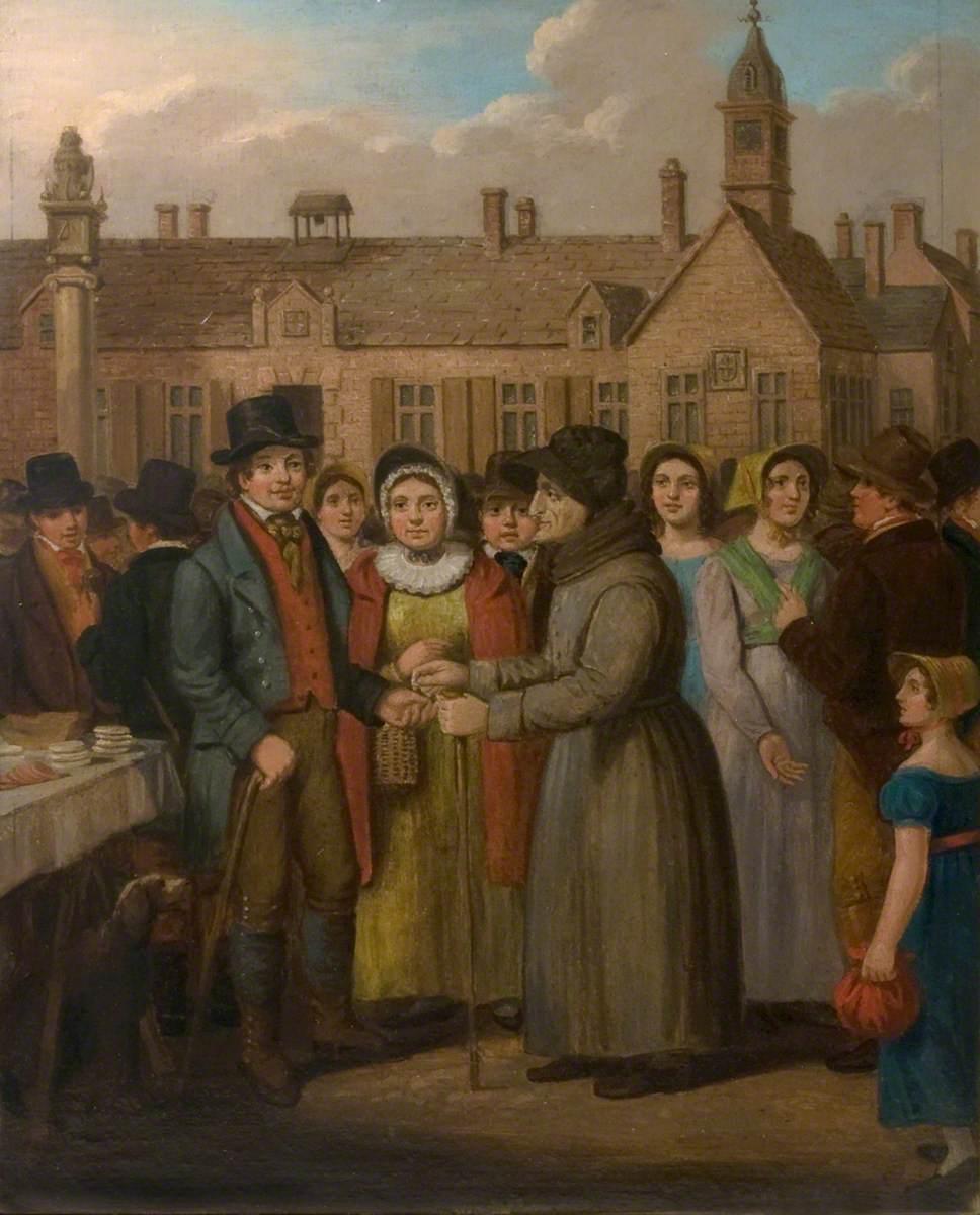 Margery Jackson (1722–1812), Hiring Croglin Watty at Carlisle Cross