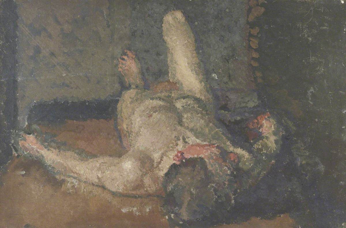 Foreshortened Male Nude