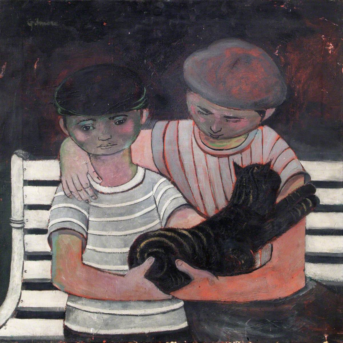Two Boys and a Cat