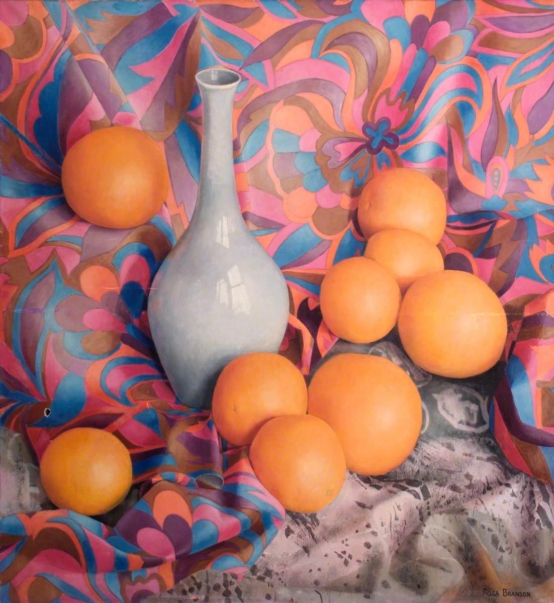 Oranges with a Vase