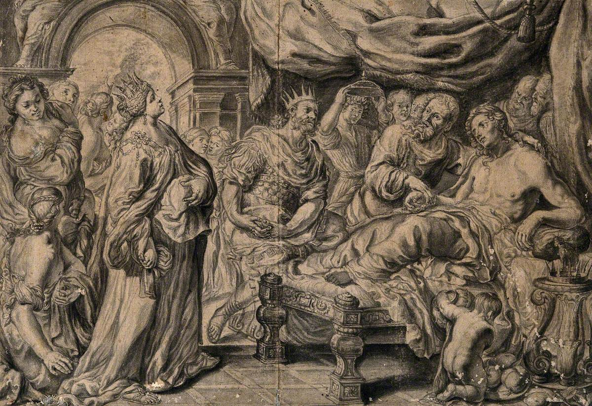 Erasistratus, a Physician, Realising that Antiochus's (Son of Seleucus I) Illness Is Love-Sickness for His Stepmother Stratonice, by Observing that Antiochus's Pulse Rose whenever He Saw Her