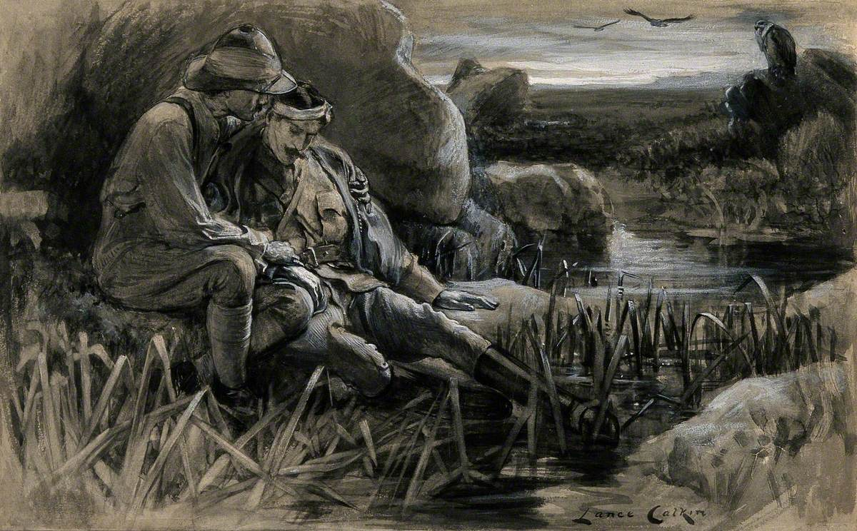 Boer War: Wounded Soldiers Awaiting for Medical Help in the Cold and Damp