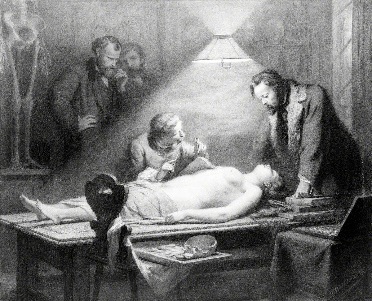 The Dissection of a Young, Beautiful Woman Directed by J. Ch. G. Lucae (1814–1885) in Order to Determine the Ideal Female Proportions