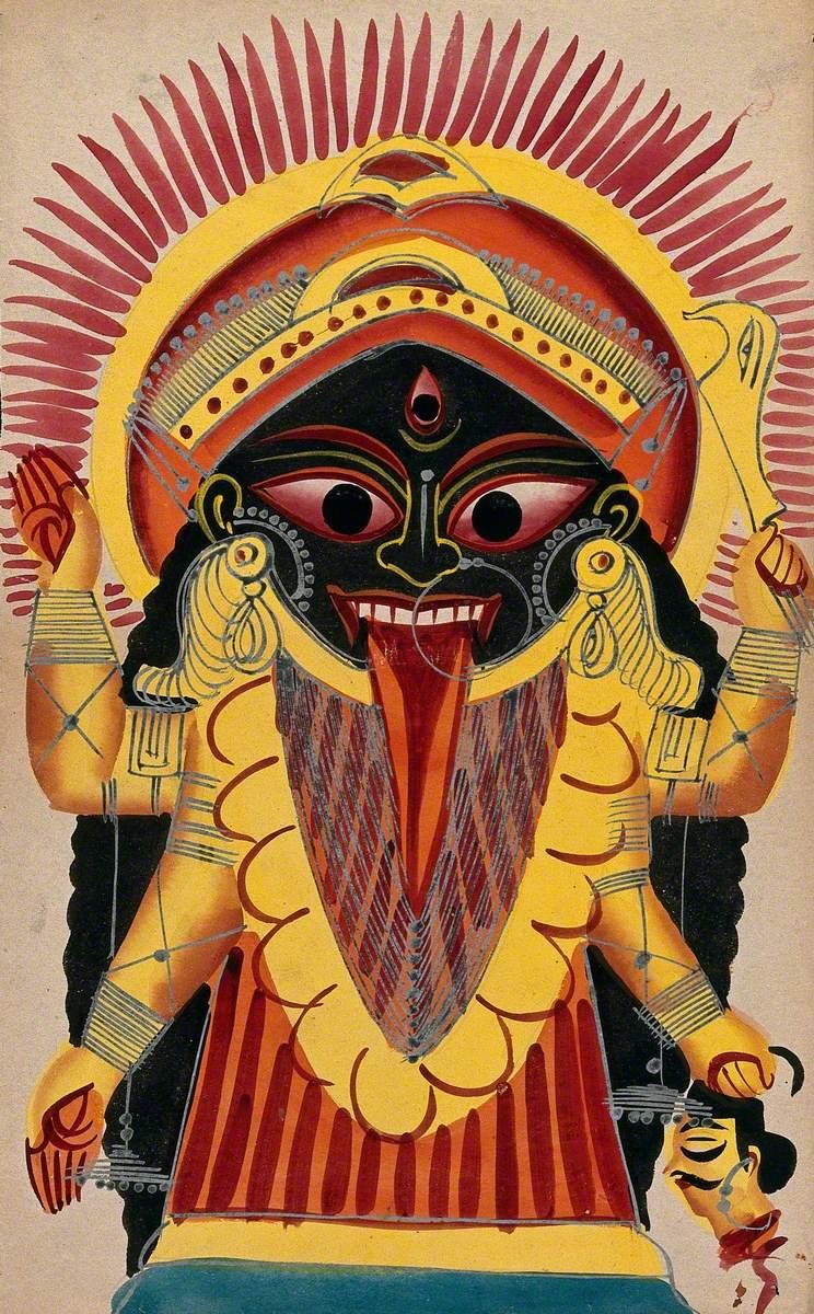 Kali Holding a Demon's Head