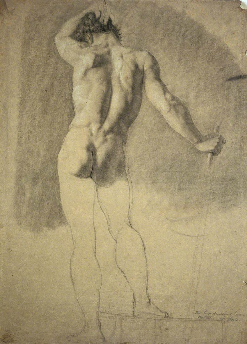 A Standing Male Nude Seen from the Rear