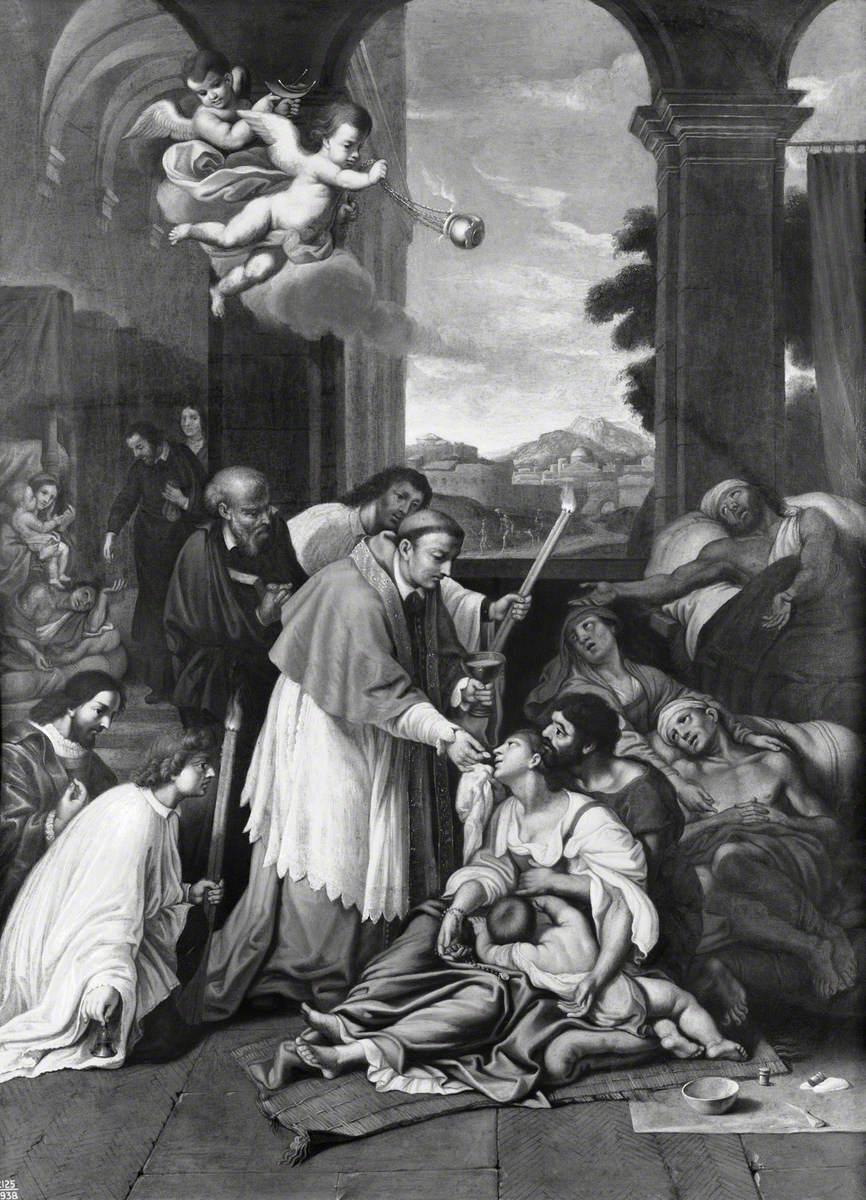 Saint Carlo Borromeo Ministering to the Plague Victims