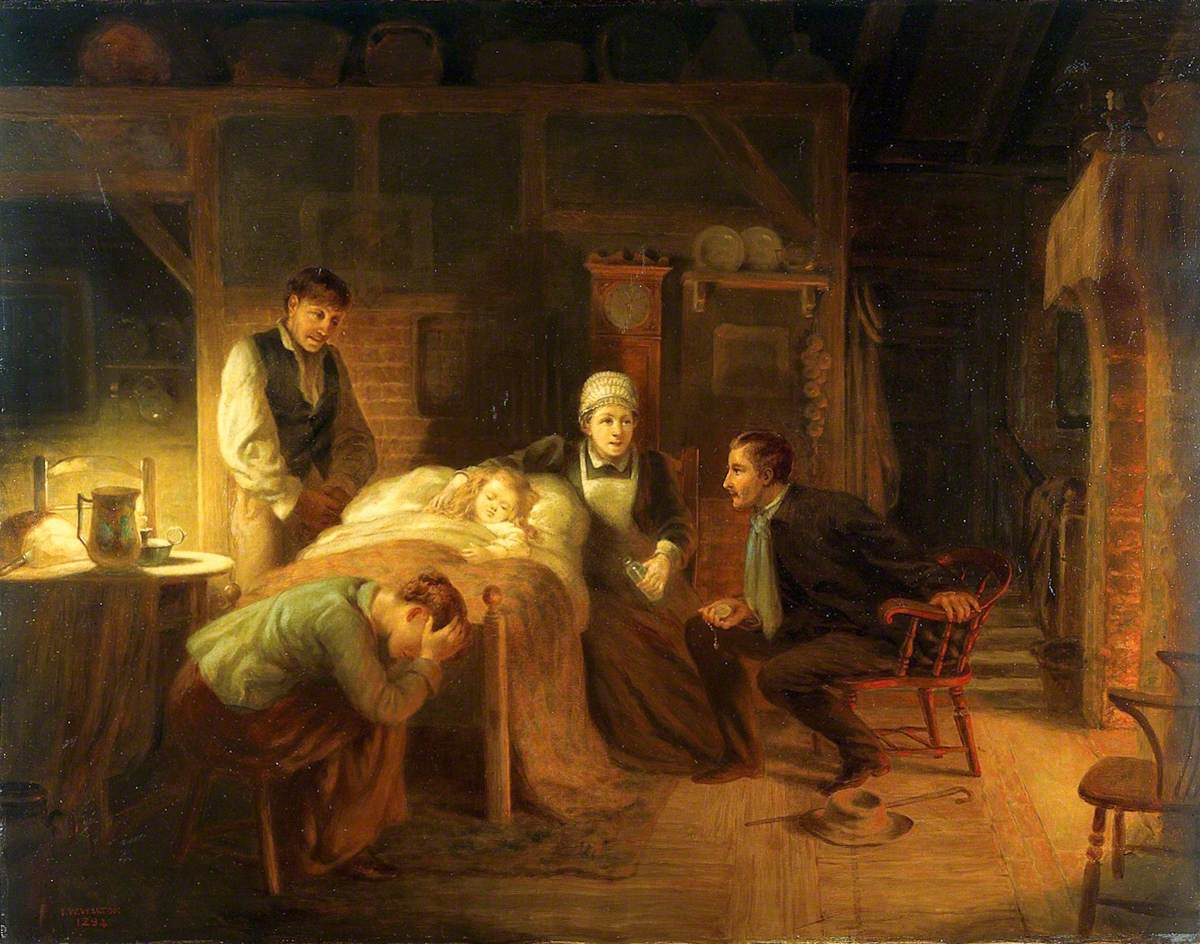 Anxious Moments: A Sick Child, Its Grieving Parents, a Nursemaid and a Medical Practitioner