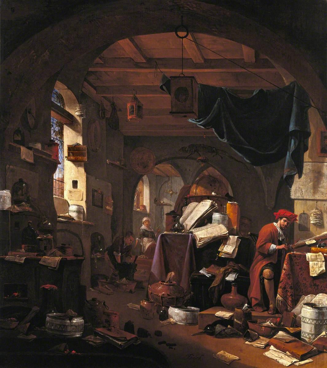 Interior with an Alchemist
