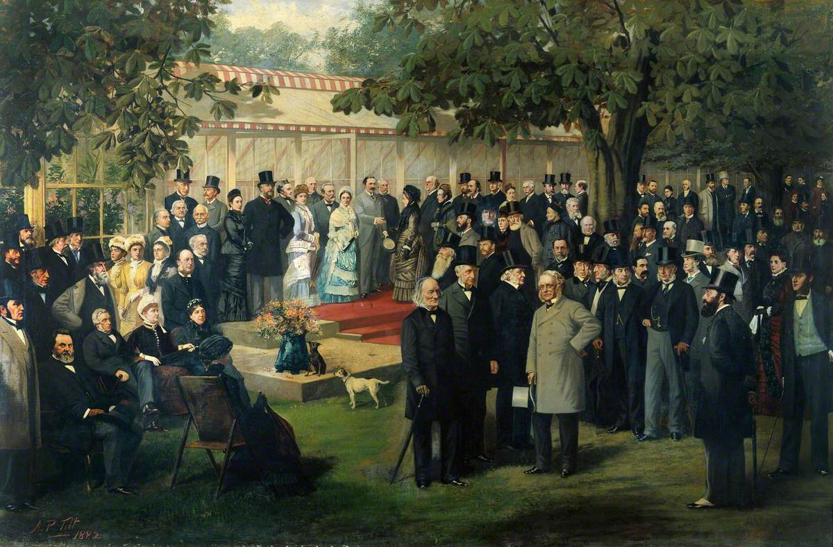 Baroness Burdett-Coutts' Garden Party at Holly Lodge, Highgate, for the International Medical Congress, 1881