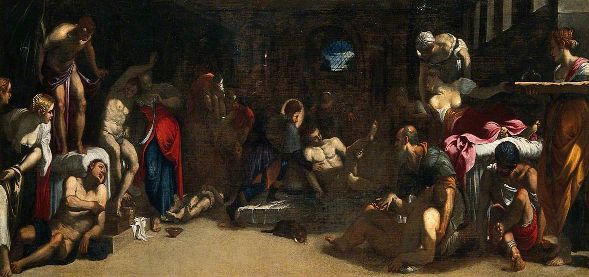 Saint Roch Attending the Plague Victims in a Lazaretto
