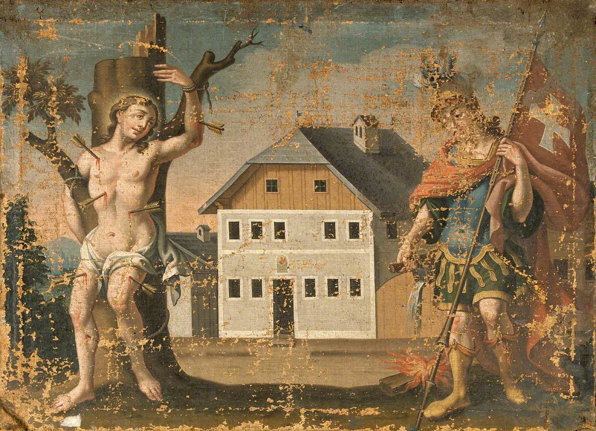 Saint Sebastian and Saint Florian