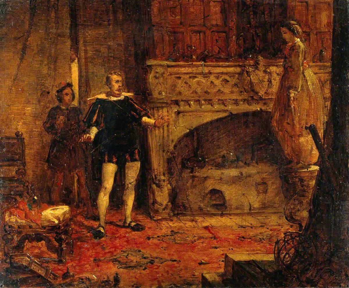 Scene from Sir Walter Scott's 'Anne of Geierstein'