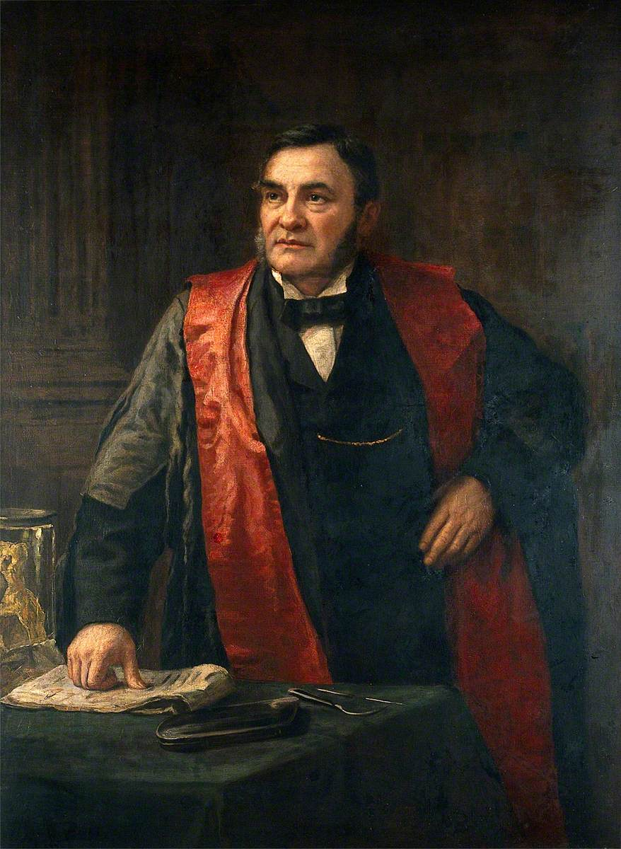 John Wood (1825–1891), FRS, FRCS, Giving a Lecture