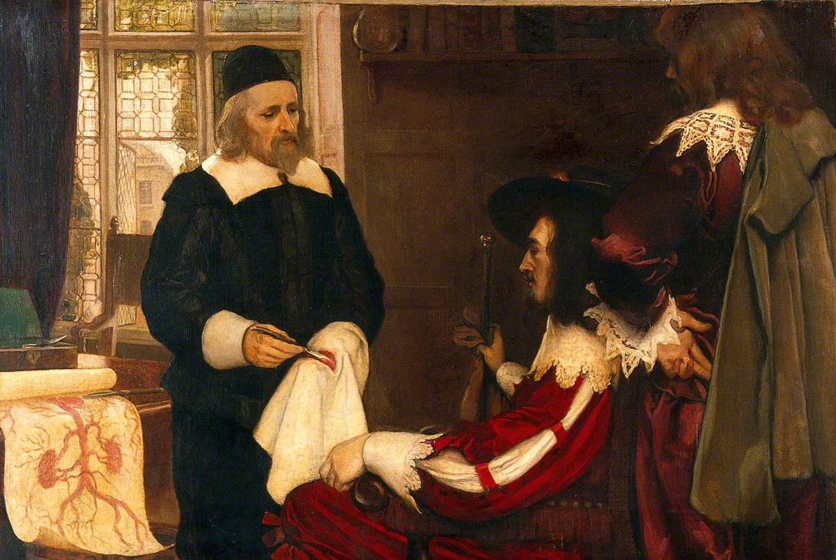 William Harvey Demonstrating His Theory of Circulation of Blood before Charles I