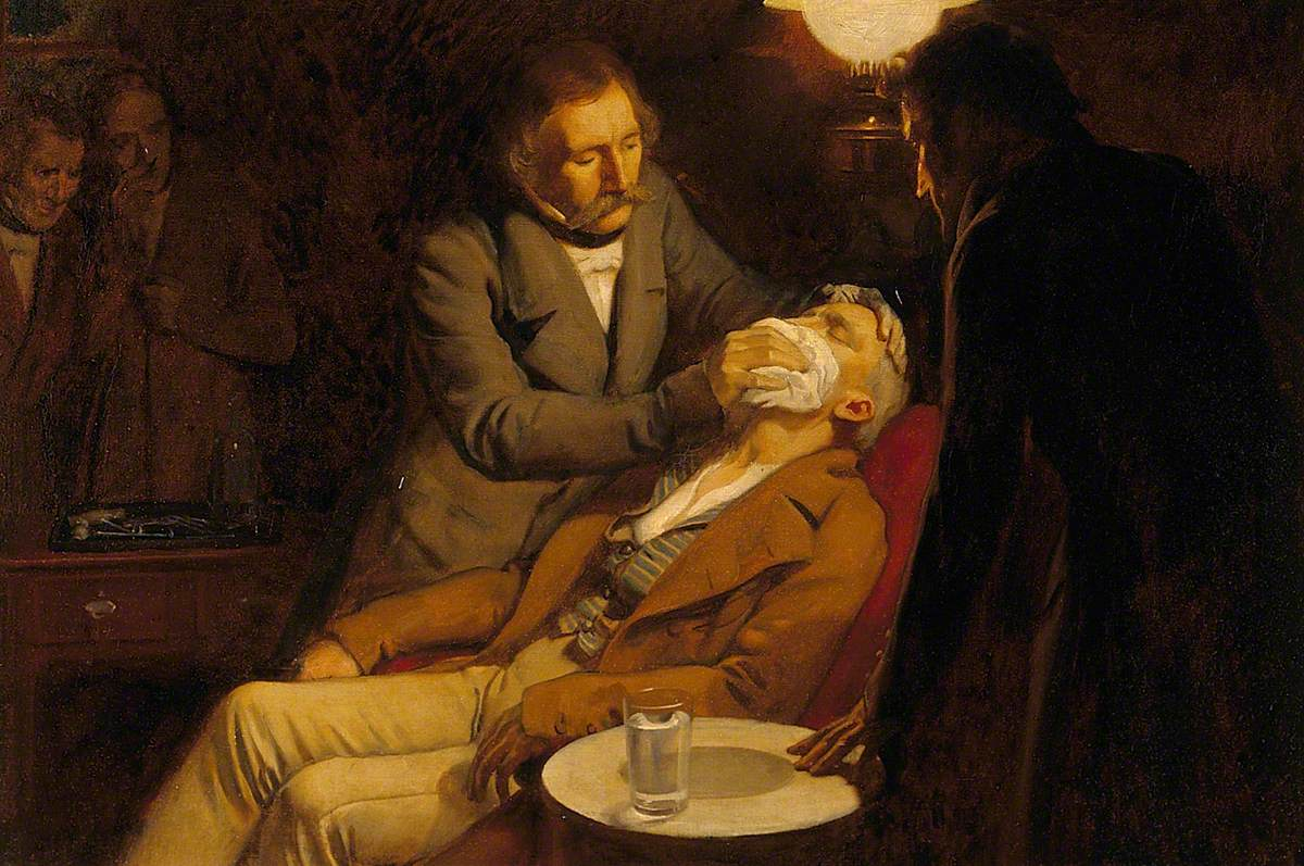 The First Use of Ether in Dental Surgery, 1846
