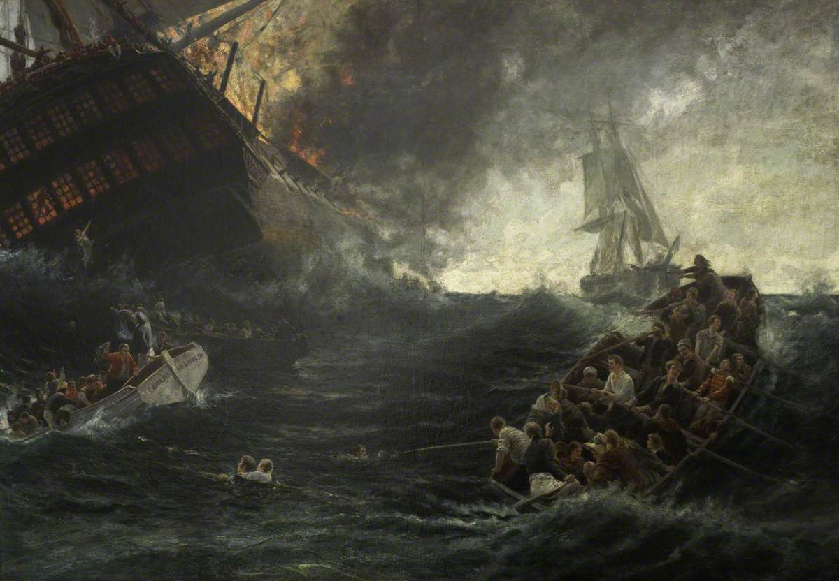 The Burning of the 'Kent' East Indiaman