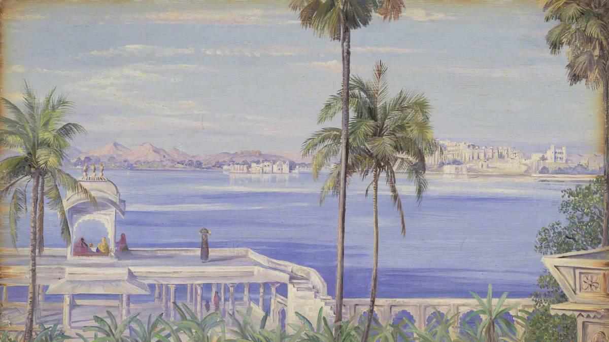 Udaipur from Island of Jagmandir. '1st Janr. 1879'