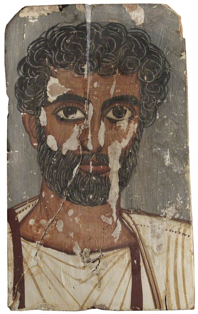 Fayum Mummy Portrait of a Man with Curly Hair and Beard*
