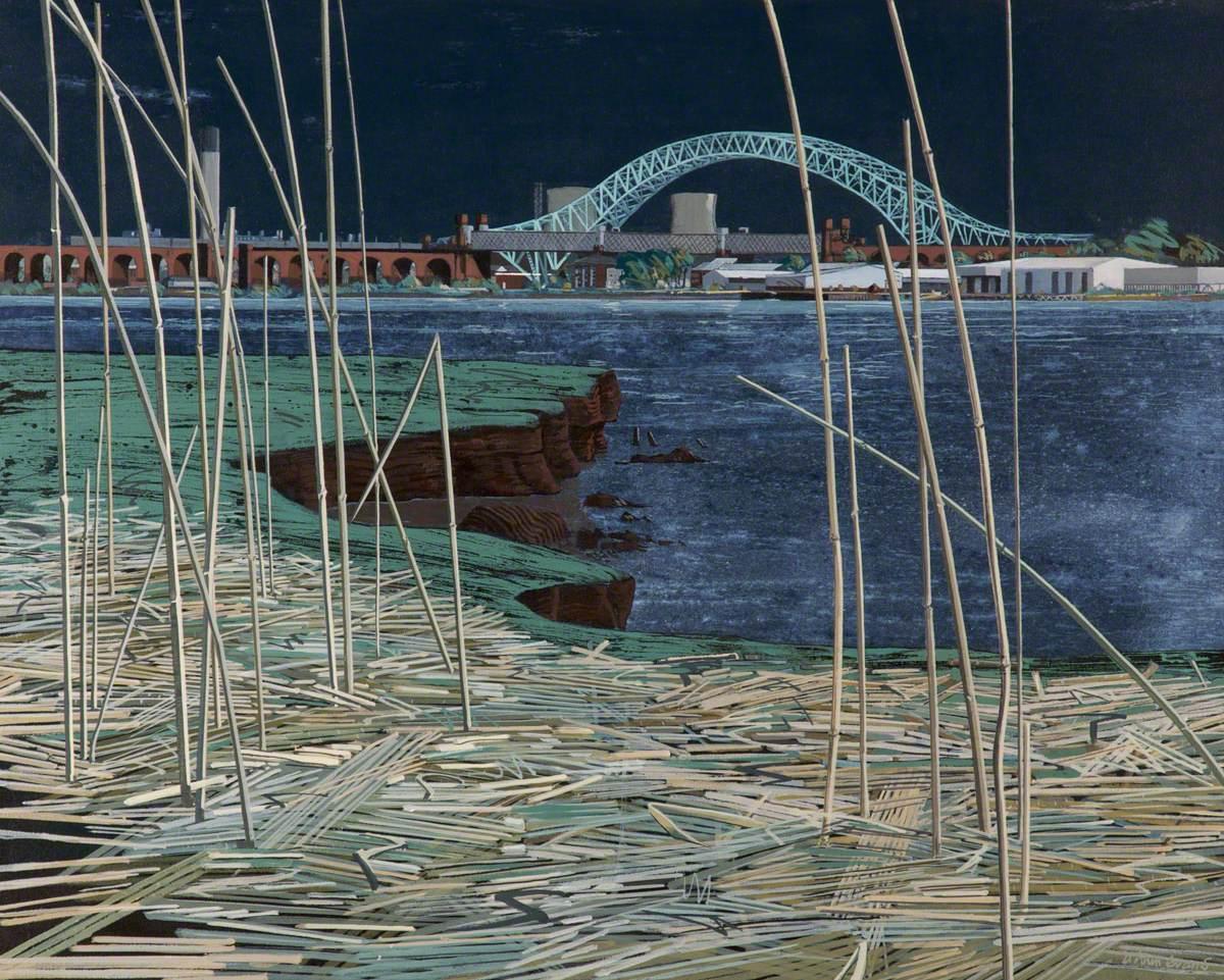 Mersey Bridges from Hale Shore