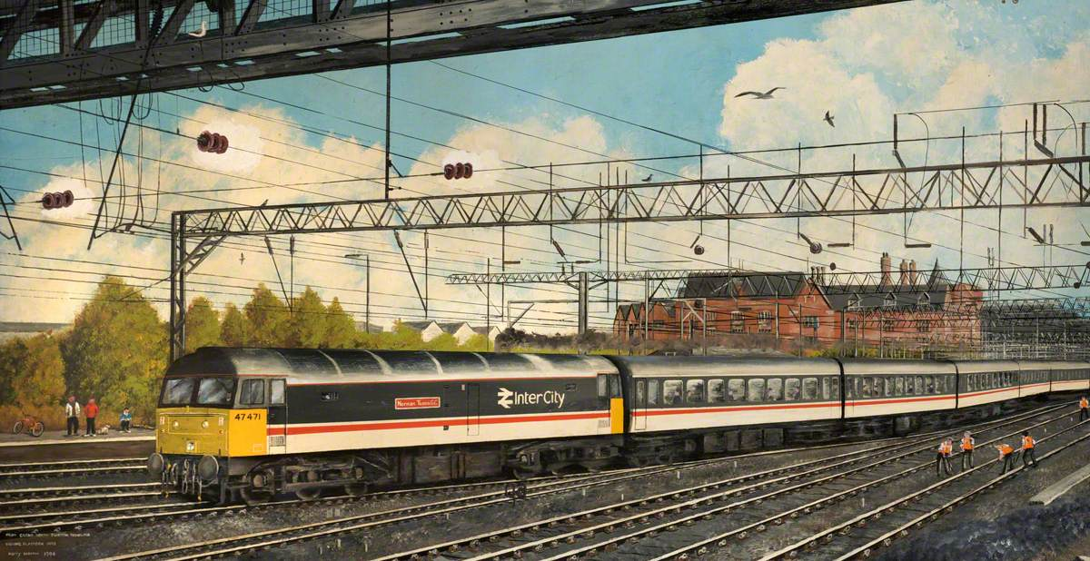 From Crewe North Junction Signal Box Viewing Platform, 1993