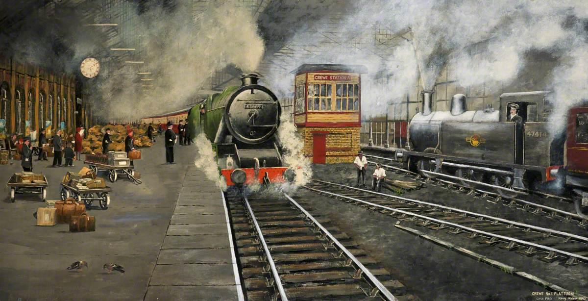 Crewe Number 1 Platform, c.1960