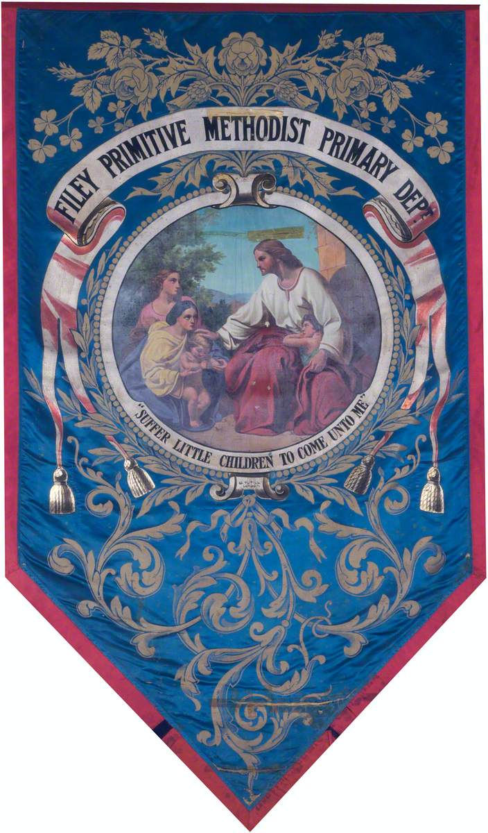 Banner from the Filey Primitive Methodist Primary Department
