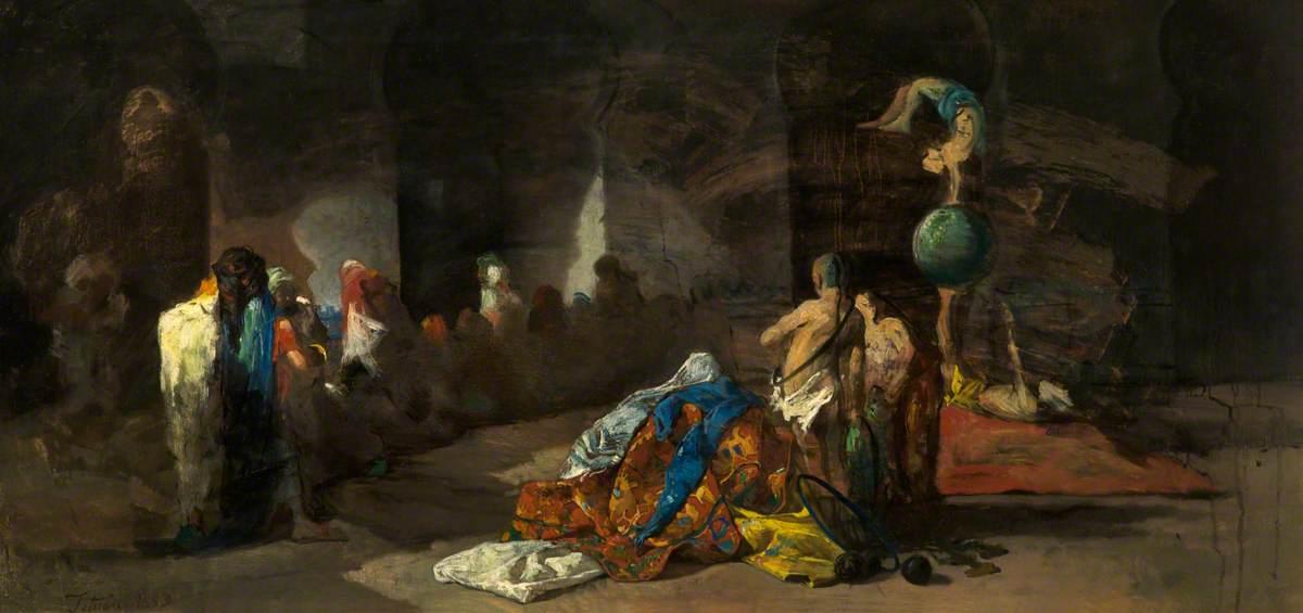 Acrobats at Tetouan, Morocco